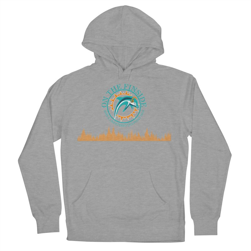 Aqua Bullet Men's French Terry Pullover Hoody by On The Fin Side's Artist Shop