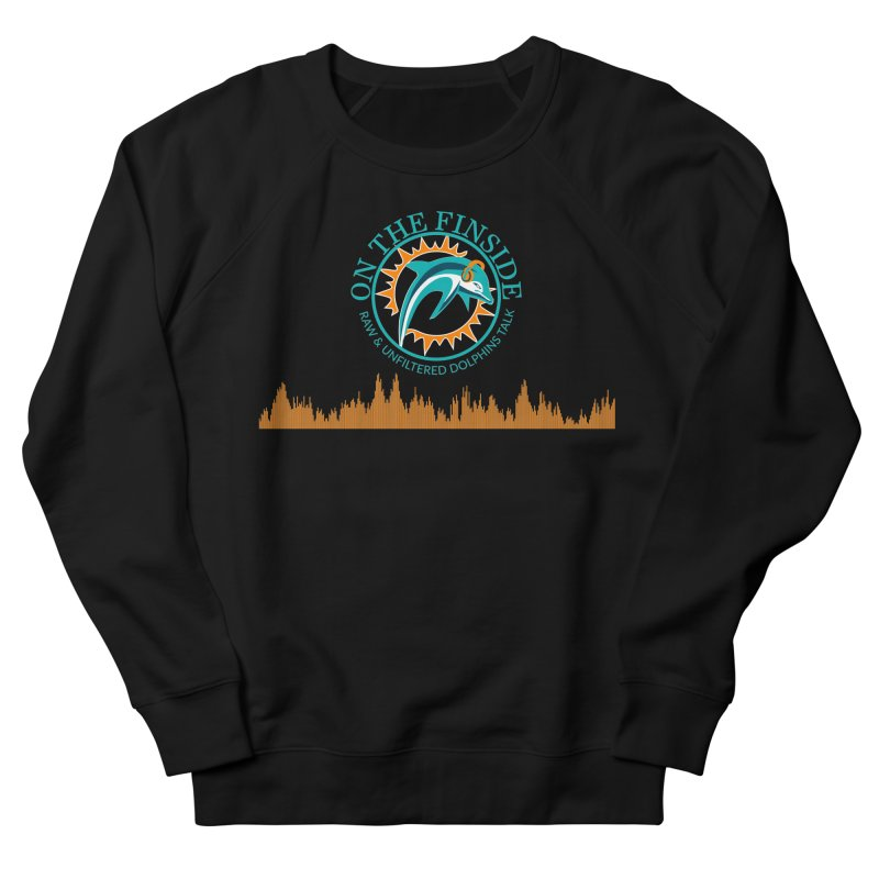 Aqua Bullet Men's French Terry Sweatshirt by On The Fin Side's Artist Shop