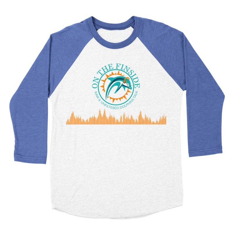 Aqua Bullet Men's Baseball Triblend Longsleeve T-Shirt by On The Fin Side's Artist Shop