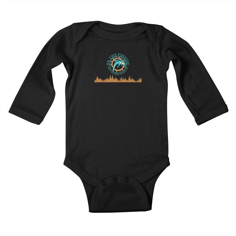 Aqua Bullet Kids Baby Longsleeve Bodysuit by On The Fin Side's Artist Shop
