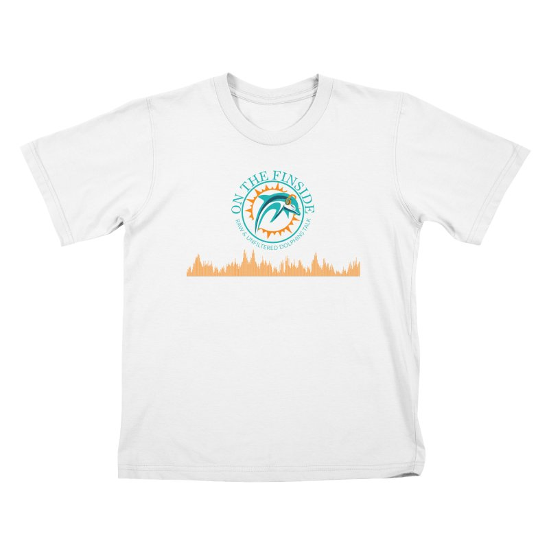 Aqua Bullet in Kids T-Shirt White by On The Fin Side's Artist Shop
