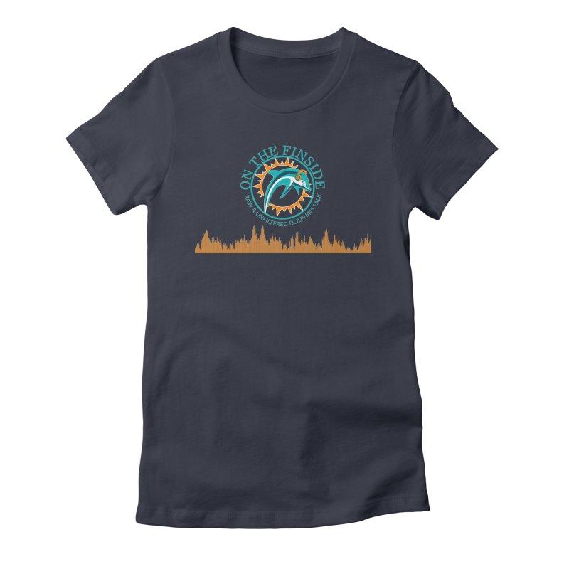Aqua Bullet Women's Fitted T-Shirt by OnTheFinSide's Artist Shop