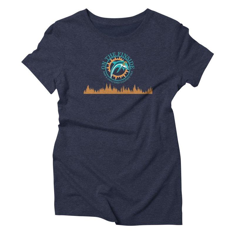 Aqua Bullet Women's Triblend T-Shirt by On The Fin Side's Artist Shop