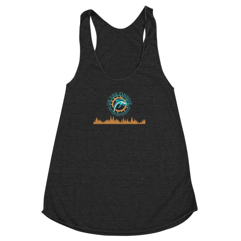 Aqua Bullet Women's Racerback Triblend Tank by OnTheFinSide's Artist Shop