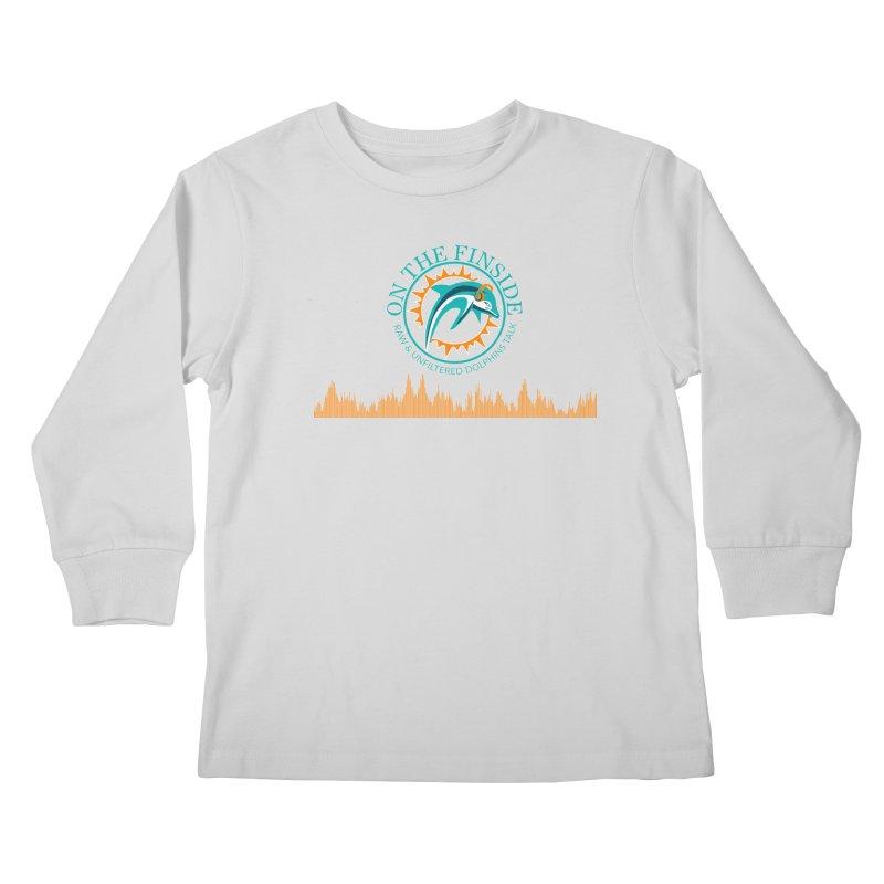 Aqua Bullet in Kids Longsleeve T-Shirt Heather Grey by On The Fin Side's Artist Shop