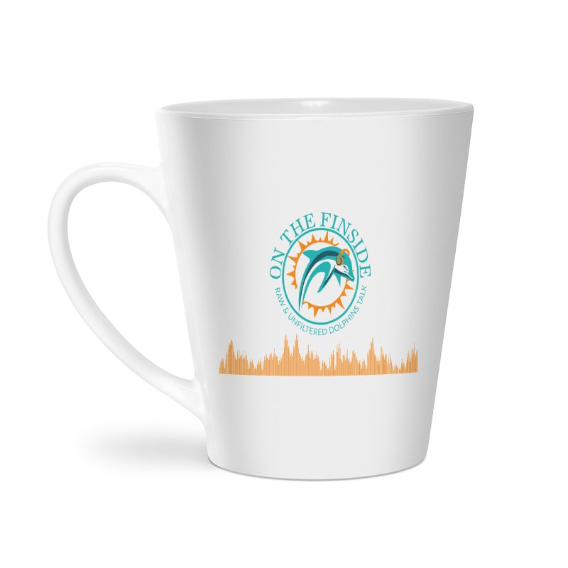 Aqua Bullet in Latte Mug by On The Fin Side's Artist Shop