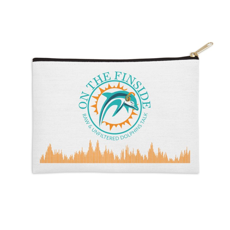 Aqua Bullet Accessories Zip Pouch by OnTheFinSide's Artist Shop