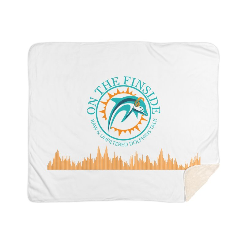 Aqua Bullet Home Sherpa Blanket Blanket by On The Fin Side's Artist Shop