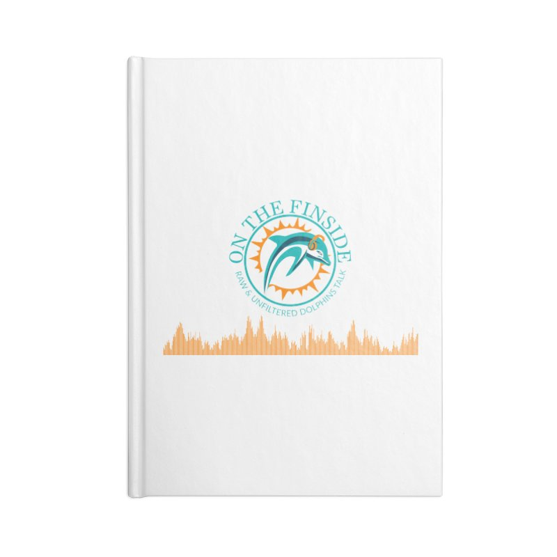 Aqua Bullet Accessories Lined Journal Notebook by On The Fin Side's Artist Shop