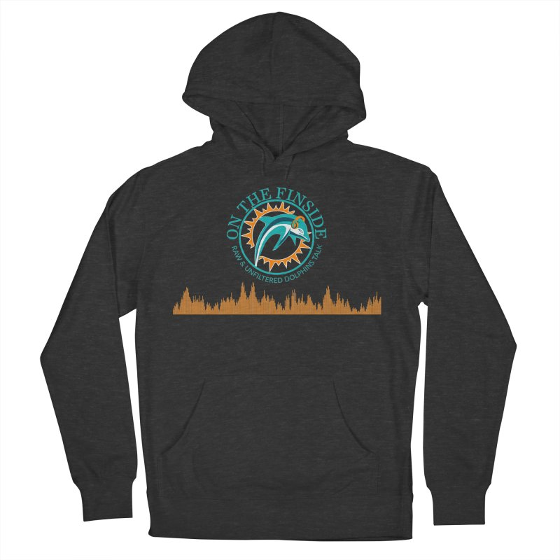 Fired up Fins Glow Men's French Terry Pullover Hoody by OnTheFinSide's Artist Shop