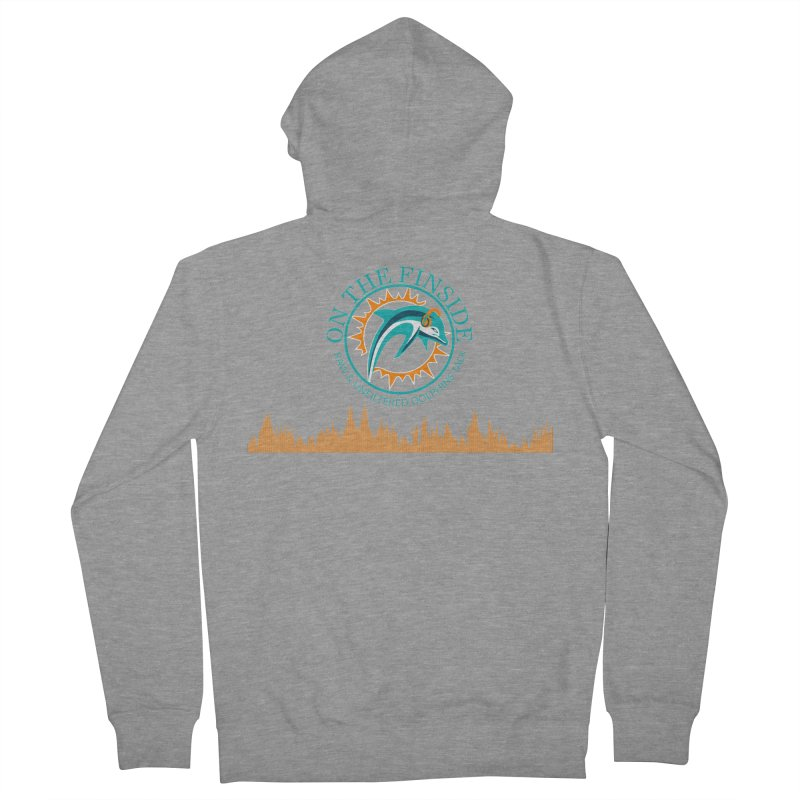 Fired up Fins Glow Women's French Terry Zip-Up Hoody by OnTheFinSide's Artist Shop