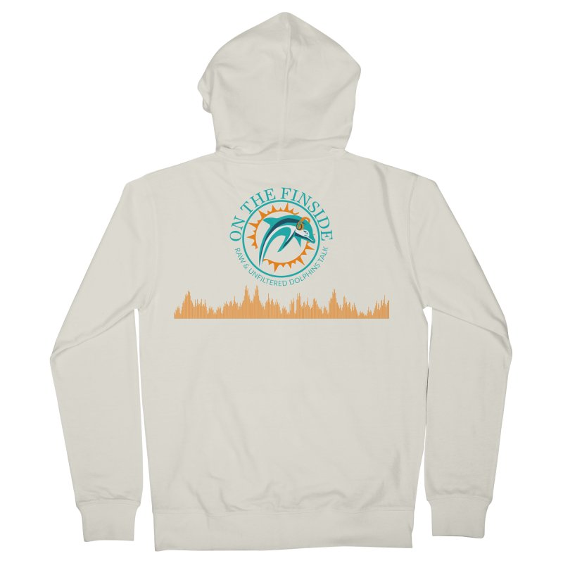 Fired up Fins Glow Women's French Terry Zip-Up Hoody by On The Fin Side's Artist Shop