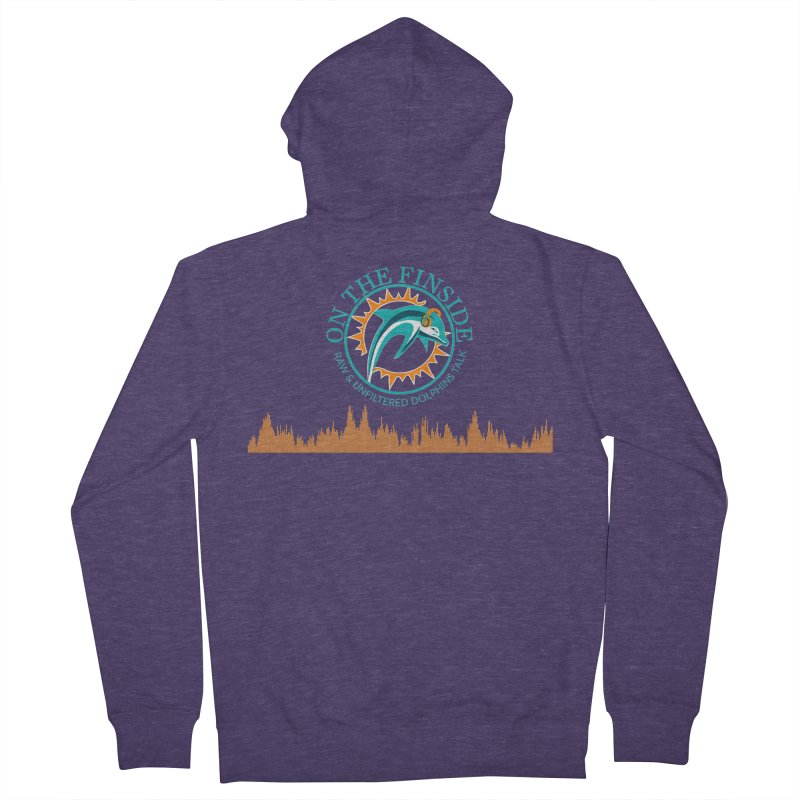 Fired up Fins Glow Men's French Terry Zip-Up Hoody by On The Fin Side's Artist Shop