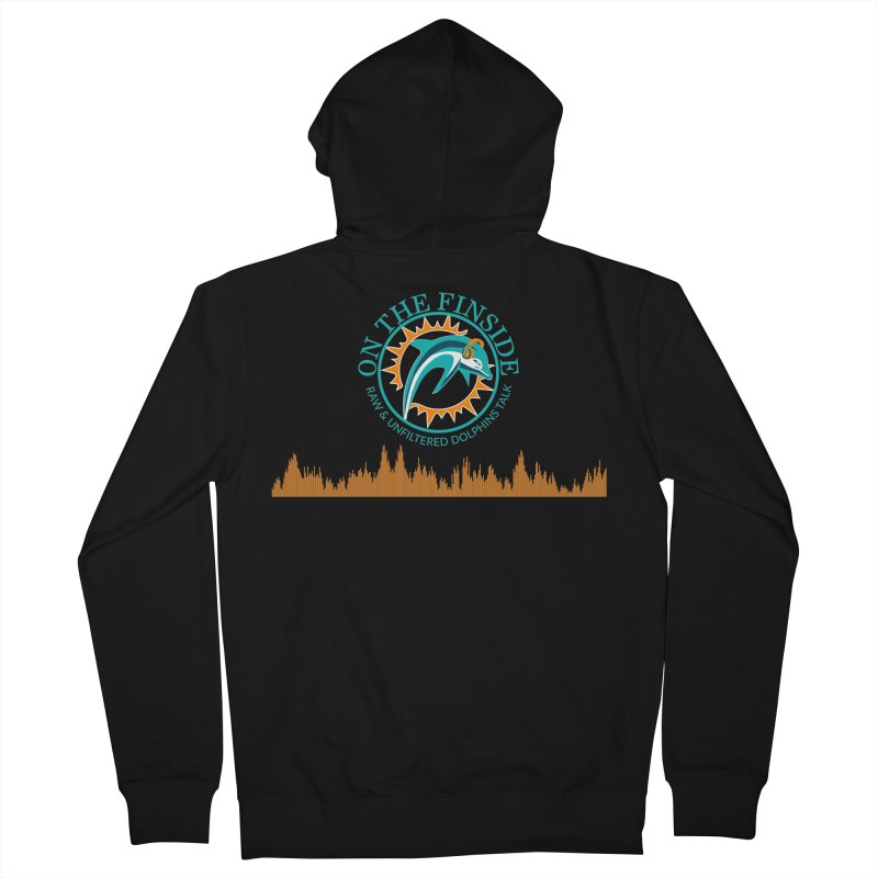 Fired up Fins Glow Men's French Terry Zip-Up Hoody by OnTheFinSide's Artist Shop