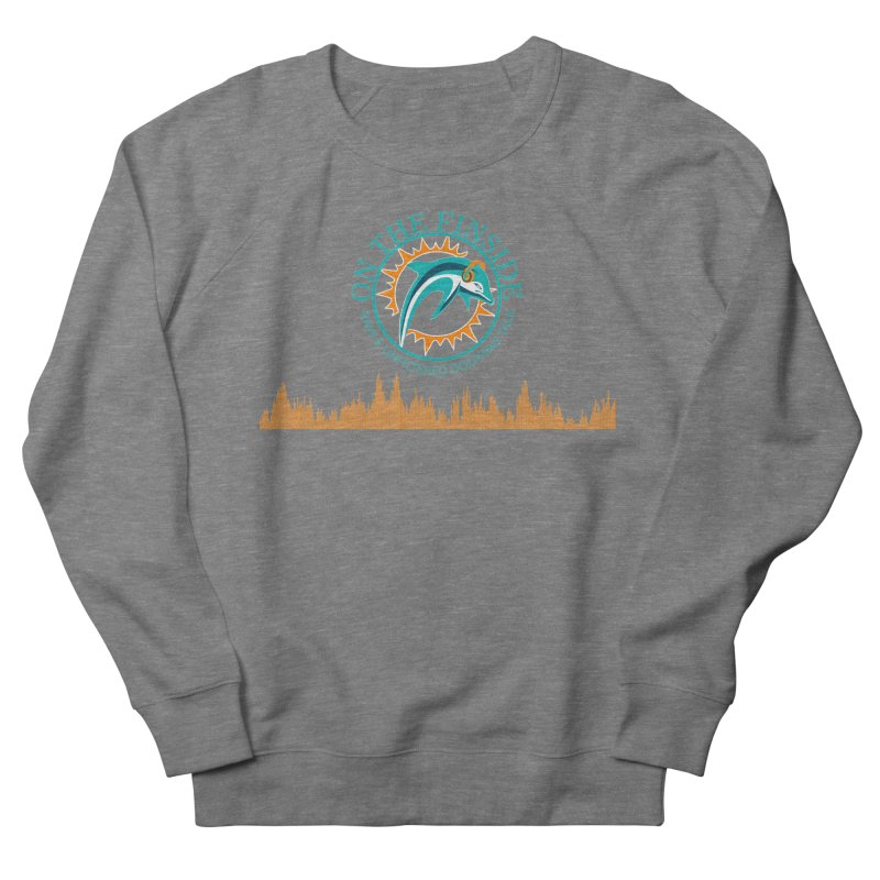 Fired up Fins Glow Women's French Terry Sweatshirt by On The Fin Side's Artist Shop