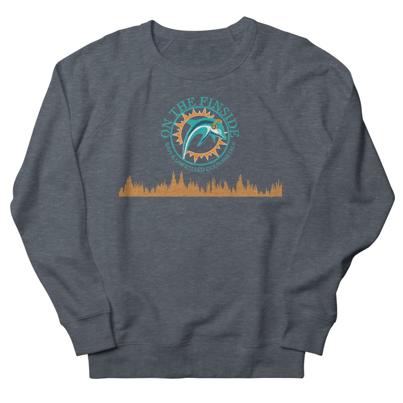 Fired up Fins Glow Men's French Terry Sweatshirt by On The Fin Side's Artist Shop