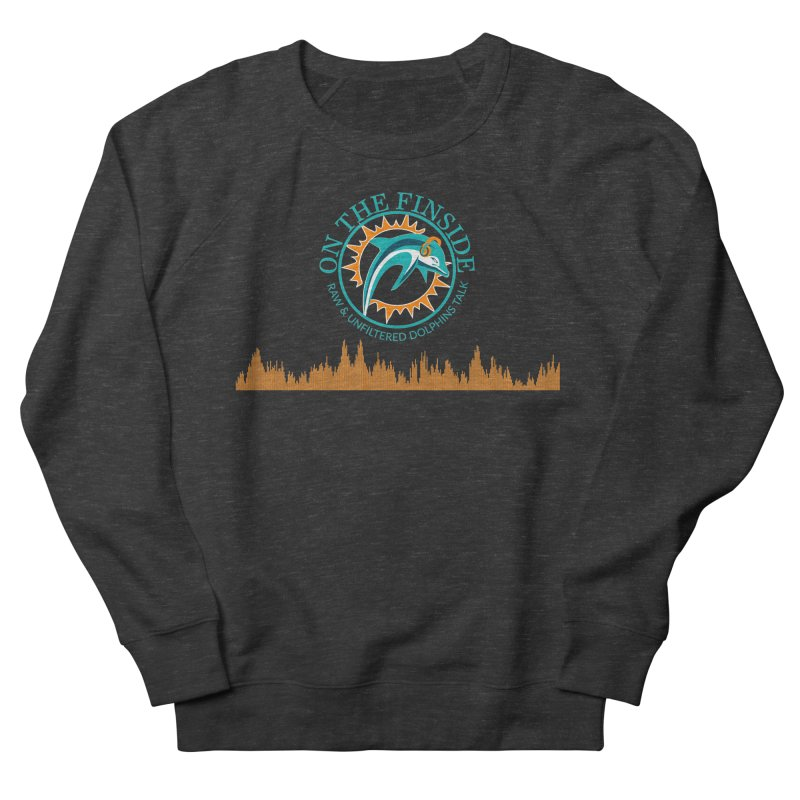 Fired up Fins Glow Men's French Terry Sweatshirt by OnTheFinSide's Artist Shop