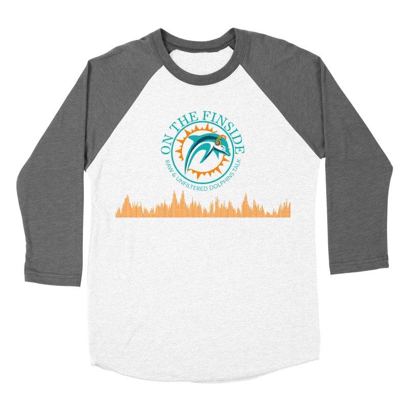 Fired up Fins Glow Women's Baseball Triblend Longsleeve T-Shirt by On The Fin Side's Artist Shop
