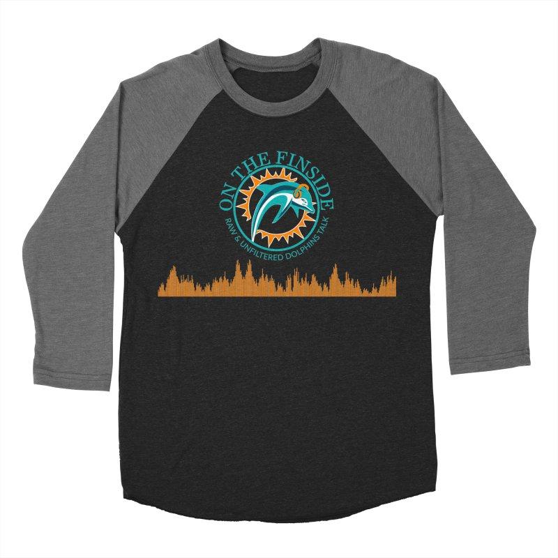 Fired up Fins Glow Men's Baseball Triblend Longsleeve T-Shirt by On The Fin Side's Artist Shop