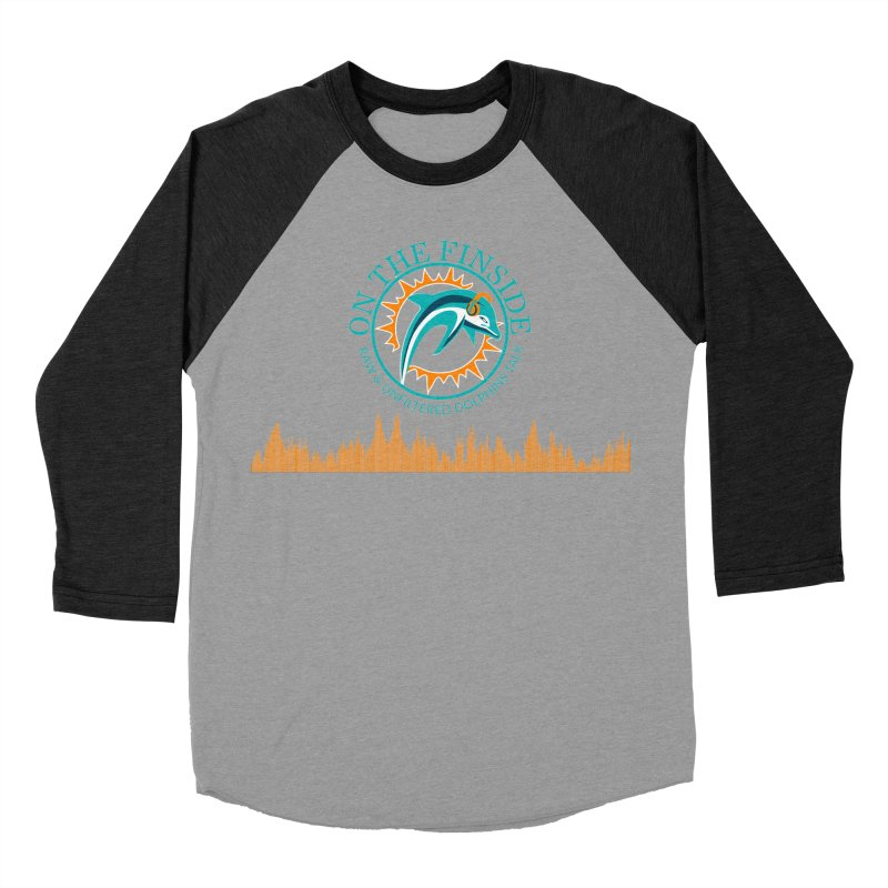 Fired up Fins Glow Men's Baseball Triblend Longsleeve T-Shirt by OnTheFinSide's Artist Shop
