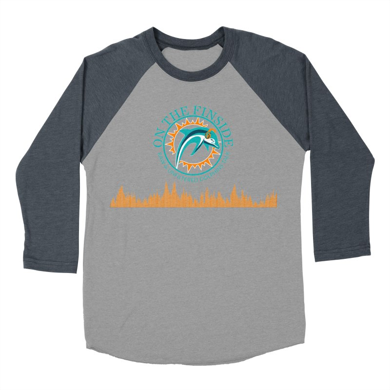 Fired up Fins Glow Men's Baseball Triblend Longsleeve T-Shirt by On The Fin Side's Artist Shop