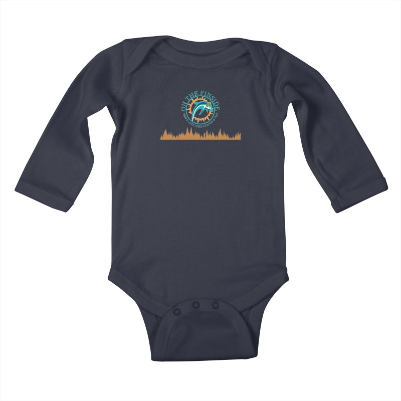 Fired up Fins Glow Kids Baby Longsleeve Bodysuit by On The Fin Side's Artist Shop