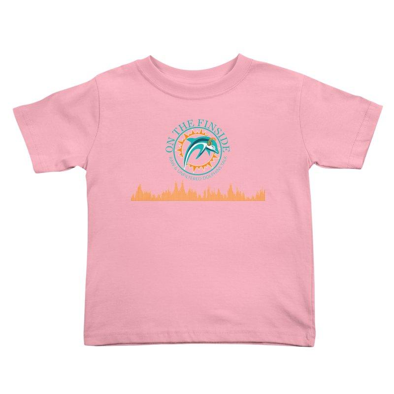 Fired up Fins Glow Kids Toddler T-Shirt by OnTheFinSide's Artist Shop