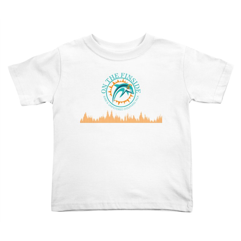 Fired up Fins Glow Kids Toddler T-Shirt by OnTheFinSide's Artist Shop