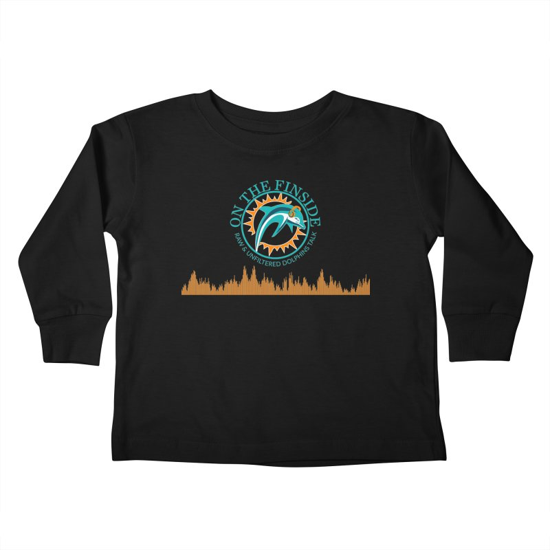 Fired up Fins Glow Kids Toddler Longsleeve T-Shirt by On The Fin Side's Artist Shop