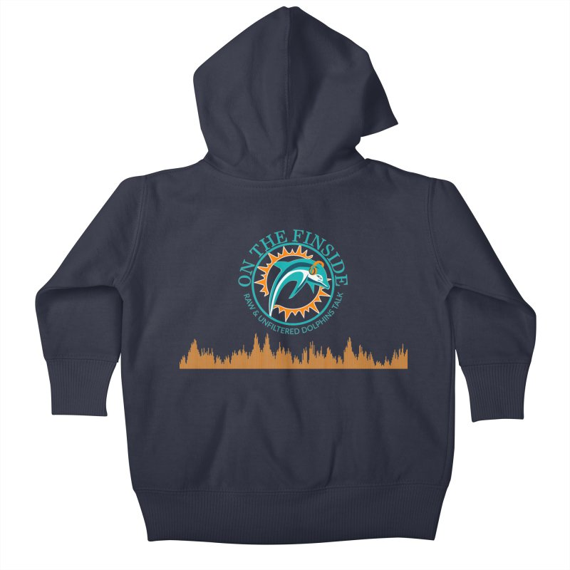 Fired up Fins Glow Kids Baby Zip-Up Hoody by On The Fin Side's Artist Shop