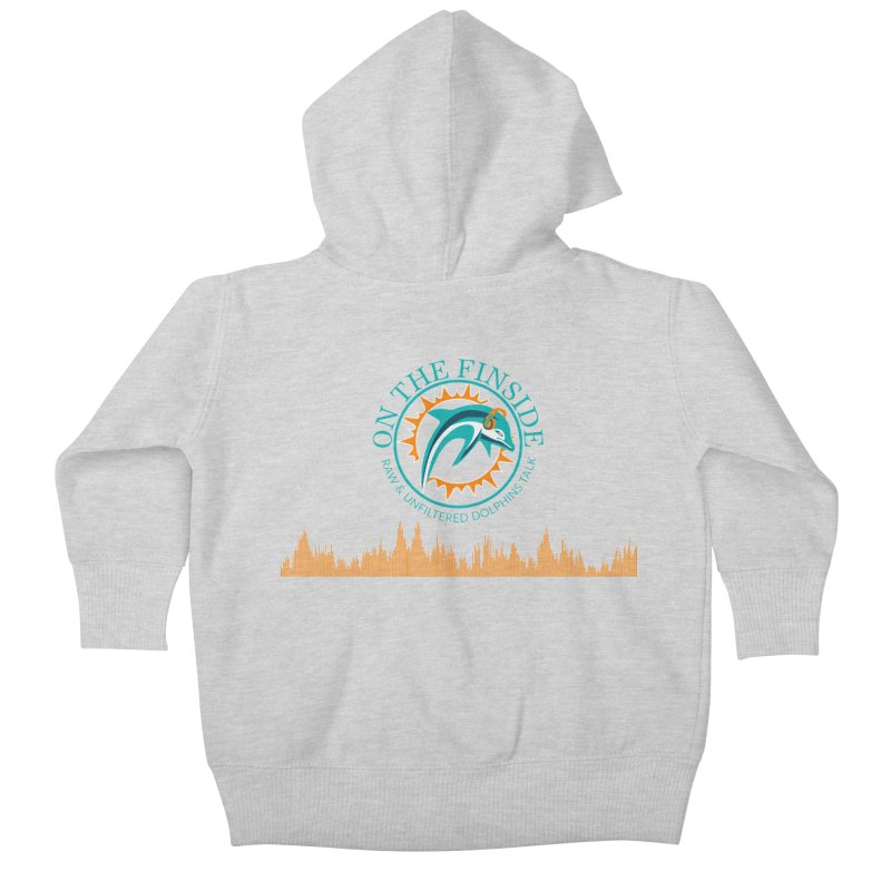 Fired up Fins Glow Kids Baby Zip-Up Hoody by OnTheFinSide's Artist Shop