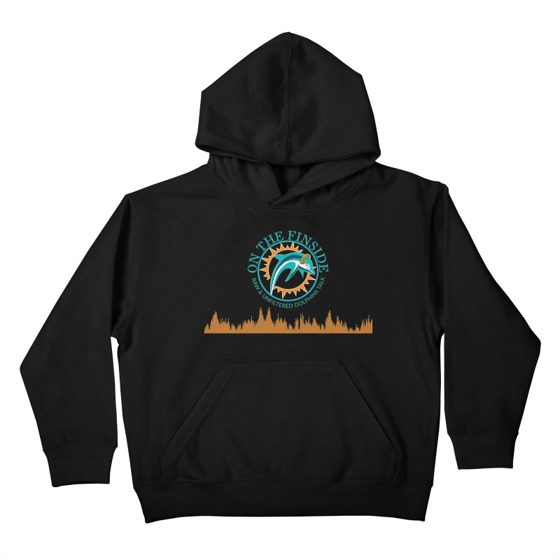 Fired up Fins Glow Kids Pullover Hoody by OnTheFinSide's Artist Shop