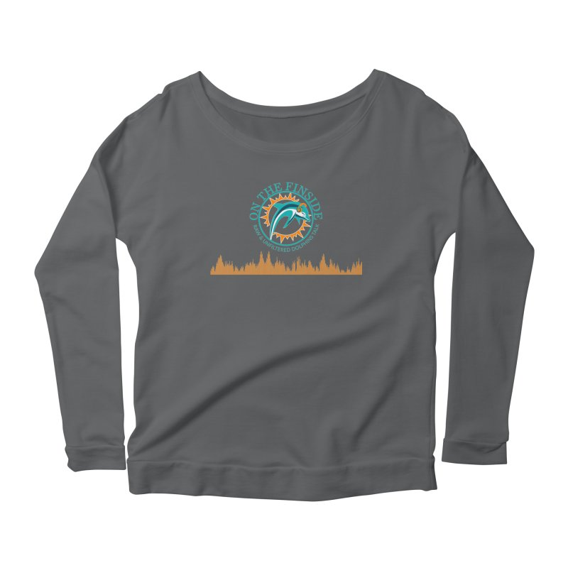 Fired up Fins Glow Women's Scoop Neck Longsleeve T-Shirt by OnTheFinSide's Artist Shop
