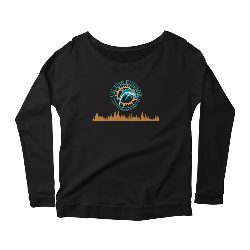 Fired up Fins Glow Women's Scoop Neck Longsleeve T-Shirt by On The Fin Side's Artist Shop