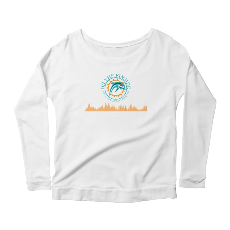 Fired up Fins Glow Women's Scoop Neck Longsleeve T-Shirt by OnTheFinSide's Artist Shop