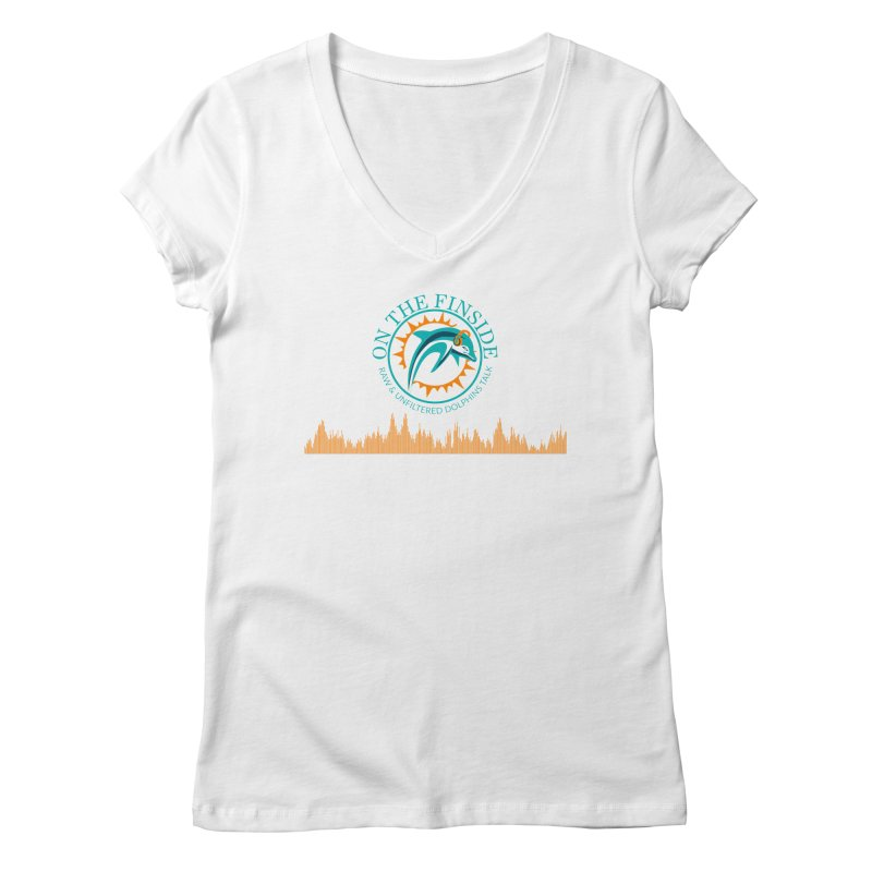 Fired up Fins Glow Women's Regular V-Neck by On The Fin Side's Artist Shop