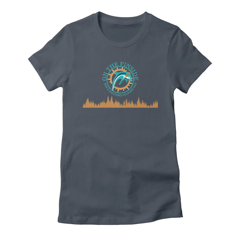 Fired up Fins Glow Women's Fitted T-Shirt by OnTheFinSide's Artist Shop