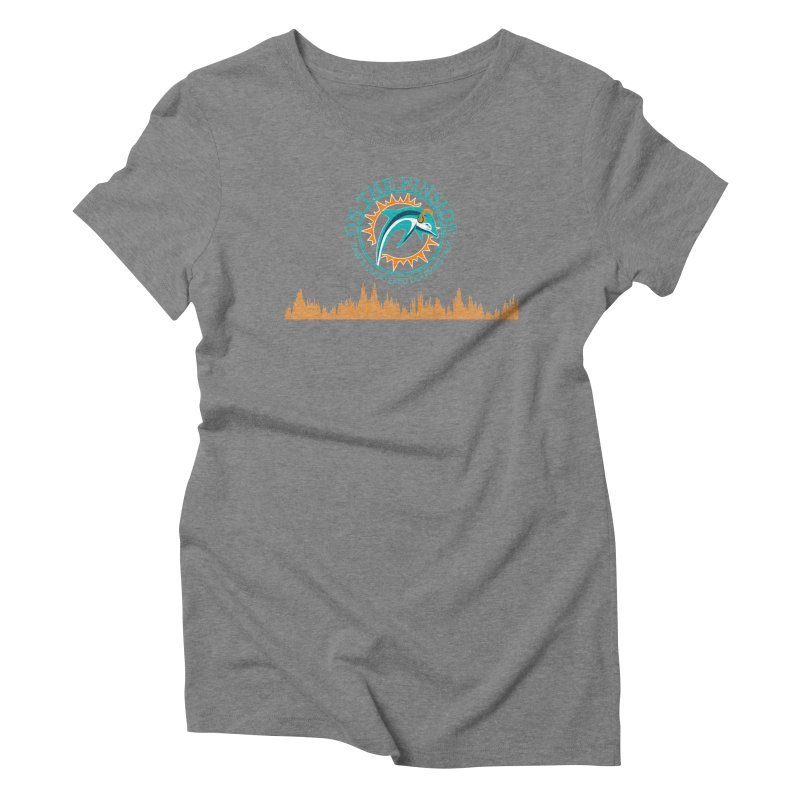 Fired up Fins Glow Women's Triblend T-Shirt by On The Fin Side's Artist Shop