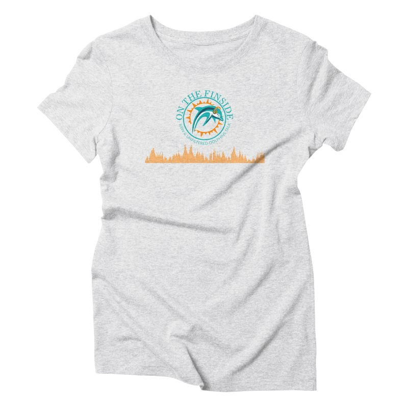 Fired up Fins Glow Women's Triblend T-Shirt by OnTheFinSide's Artist Shop