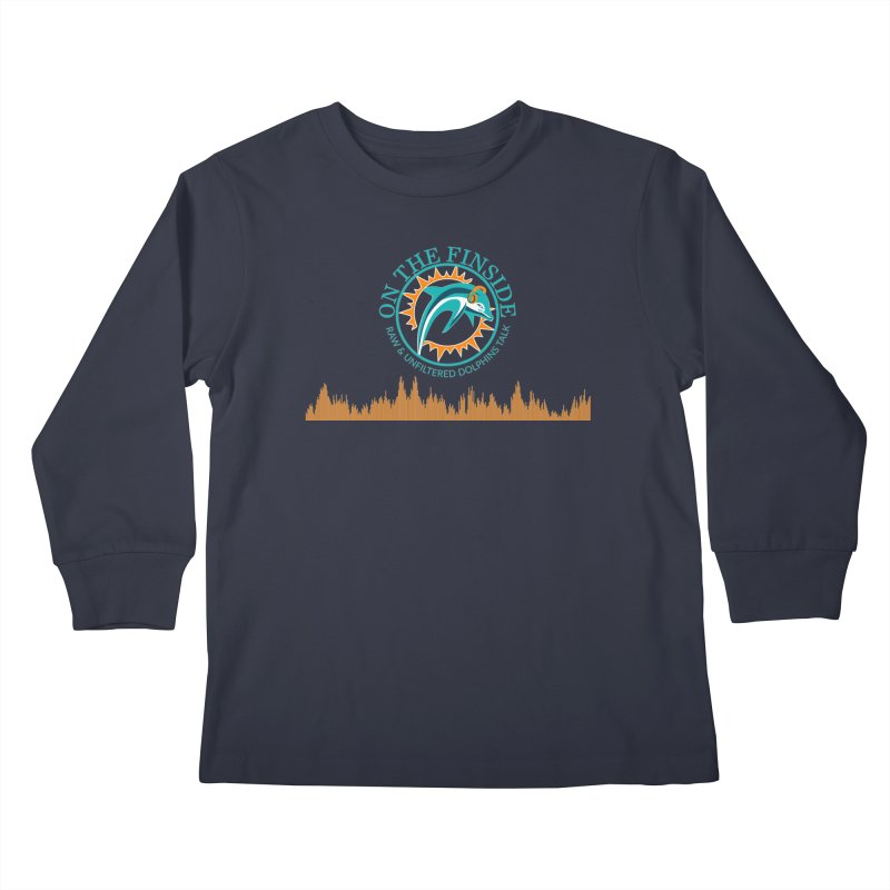 Fired up Fins Glow Kids Longsleeve T-Shirt by On The Fin Side's Artist Shop