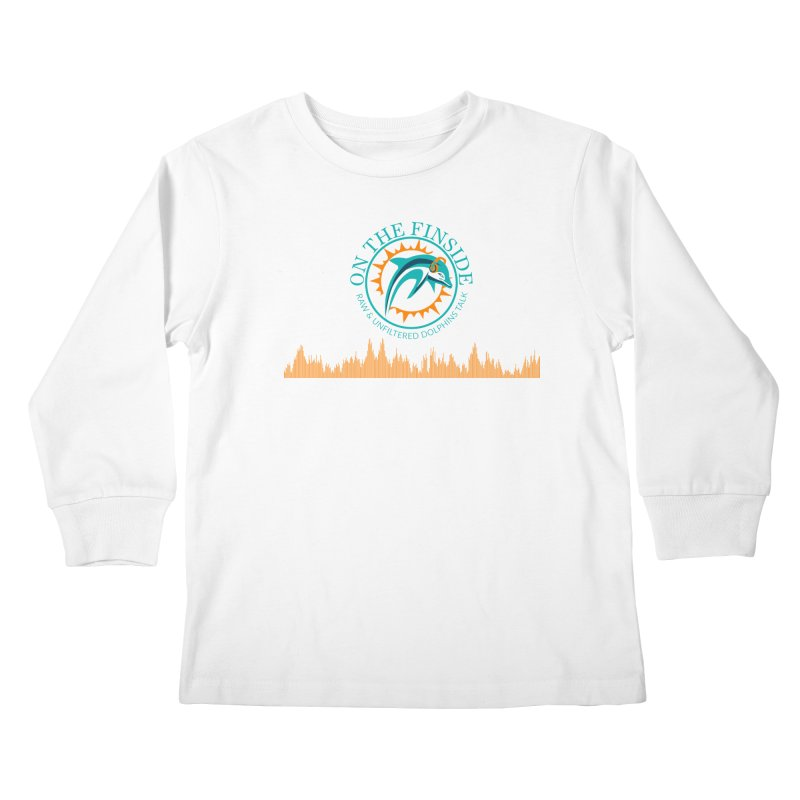 Fired up Fins Glow Kids Longsleeve T-Shirt by OnTheFinSide's Artist Shop