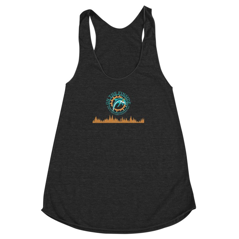 Fired up Fins Glow Women's Racerback Triblend Tank by OnTheFinSide's Artist Shop