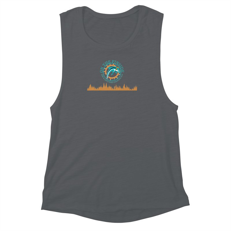 Fired up Fins Glow Women's Muscle Tank by OnTheFinSide's Artist Shop