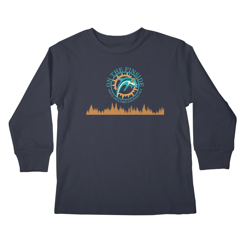 Fired up Fins Glow Kids Longsleeve T-Shirt by OnTheFinSide's Artist Shop