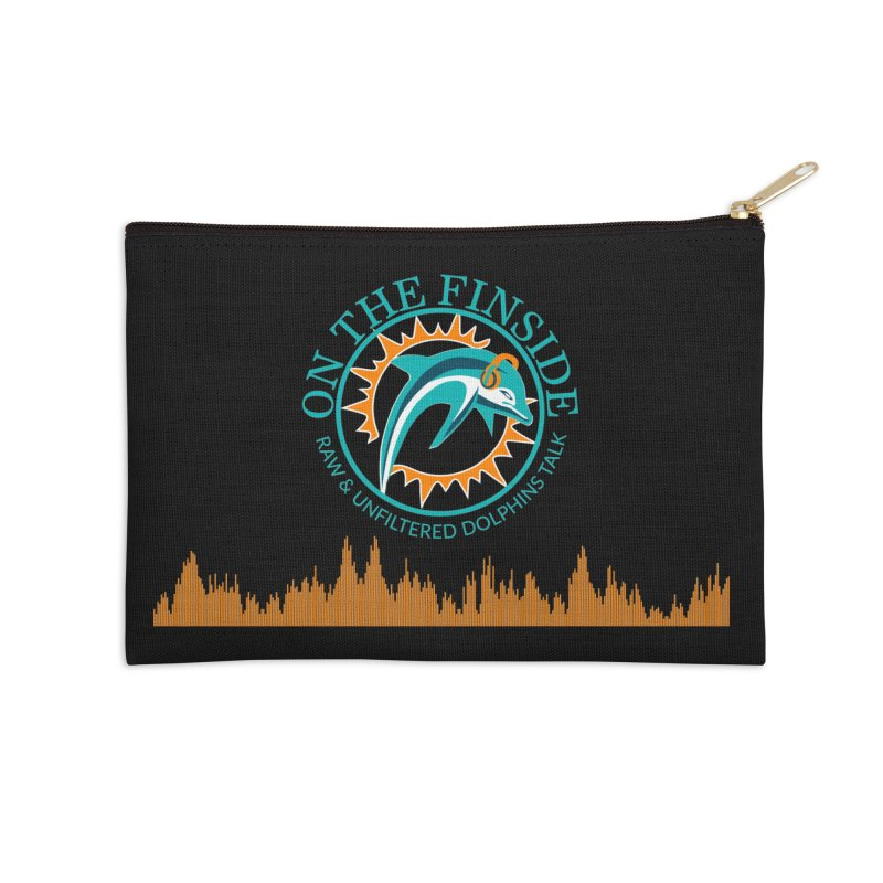 Fired up Fins Glow Accessories Zip Pouch by OnTheFinSide's Artist Shop