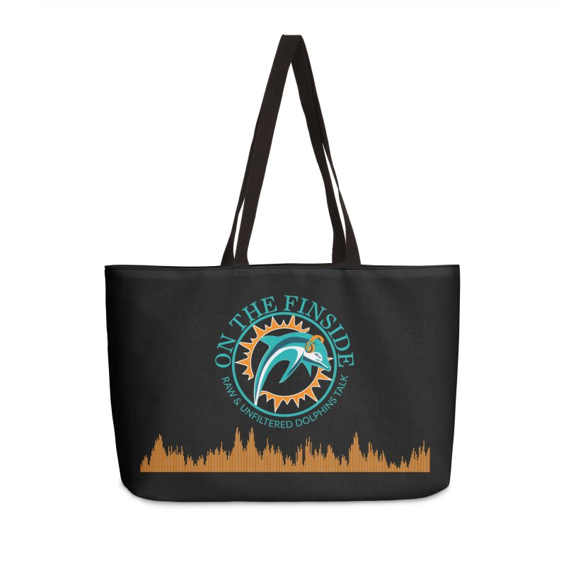 Fired up Fins Glow Accessories Weekender Bag Bag by On The Fin Side's Artist Shop