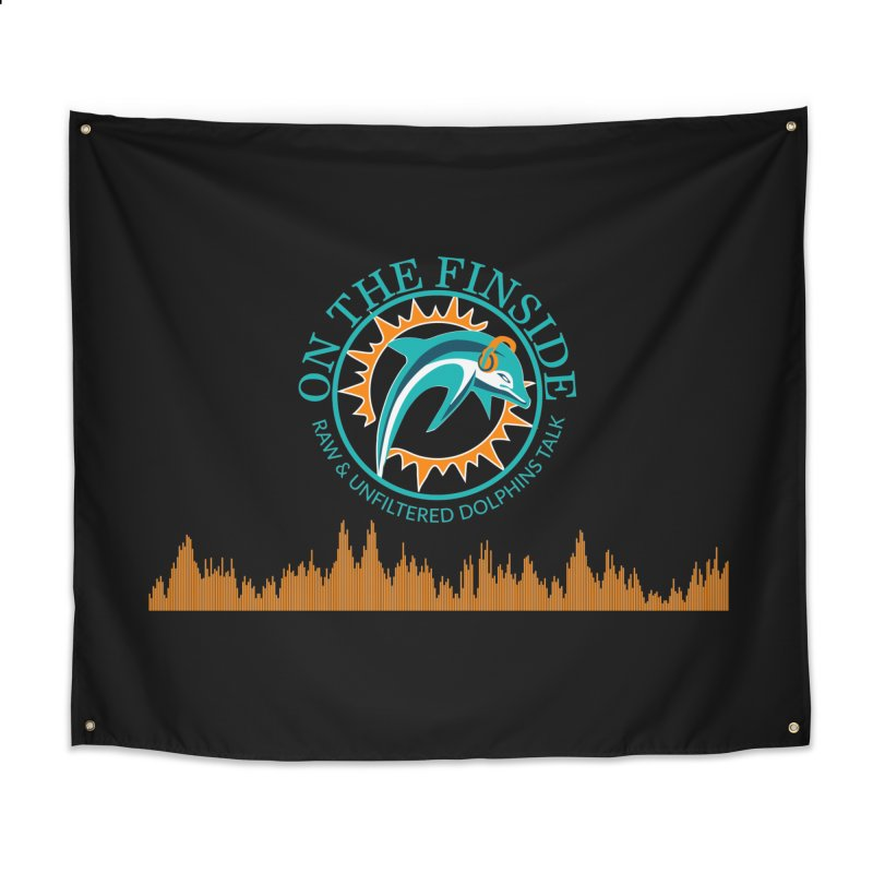 Fired up Fins Glow Home Tapestry by On The Fin Side's Artist Shop