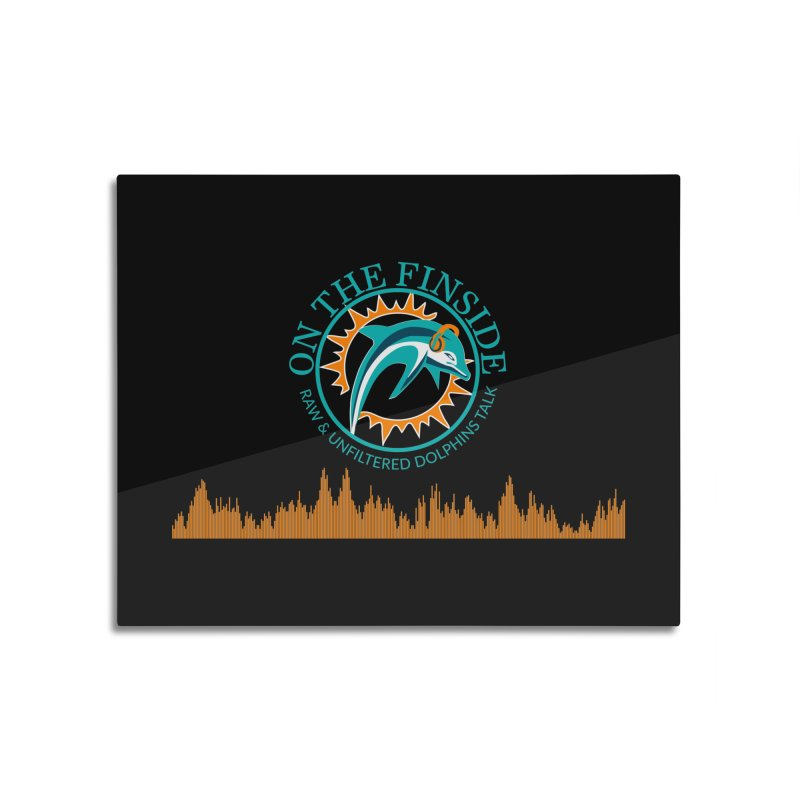 Fired up Fins Glow Home Mounted Aluminum Print by On The Fin Side's Artist Shop
