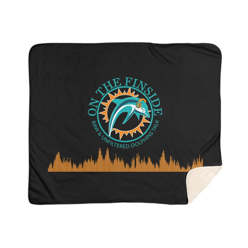 Fired up Fins Glow Home Sherpa Blanket Blanket by On The Fin Side's Artist Shop