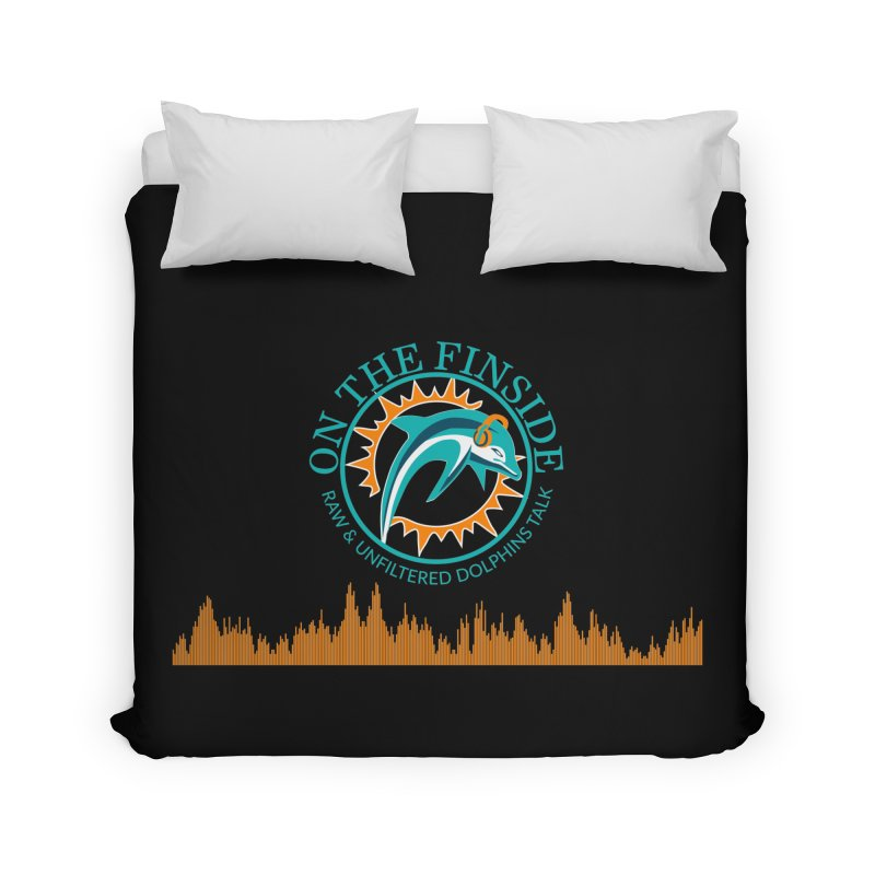 Fired up Fins Glow Home Duvet by OnTheFinSide's Artist Shop